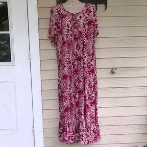 ULLA POPKEN rayon long rayon dress/12/14